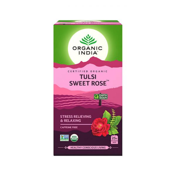 Tulsi sladka ruza Ajurvedsky caj Organic India