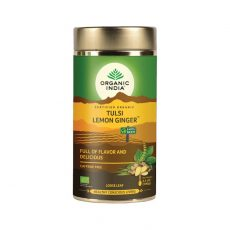 Tulsi Citron Zazvor ajurvedsky sypany caj 100g Organic India