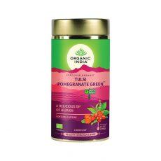 Tulsi Granatove jablko Zeleny caj ajurvedsky caj 100g Organic India