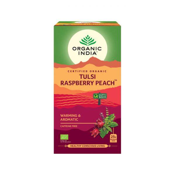 Tulsi Malina Broskyna Ajurvedsky caj Organic India