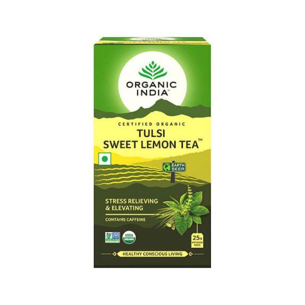 Tulsi Sladky citron ajurvedsky caj porciovany Organic India